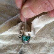 wattentip en zilverp doek binnenkant
